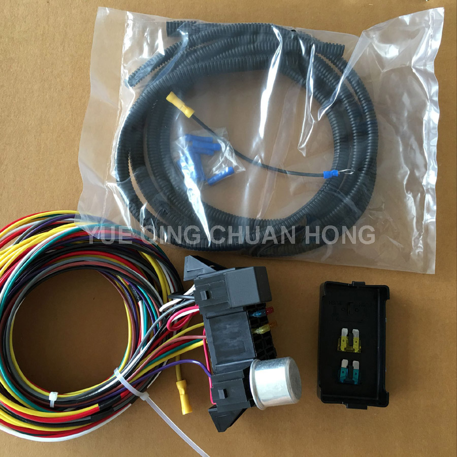 12v 8 Fuse Circuit Auto Wire Harness Kits For Muscle Car Hot Rod Street Rod  - Buy Auto Wire Harness,Muscle Car Harness,Hot Rod Street Wiring Harness  Product ...