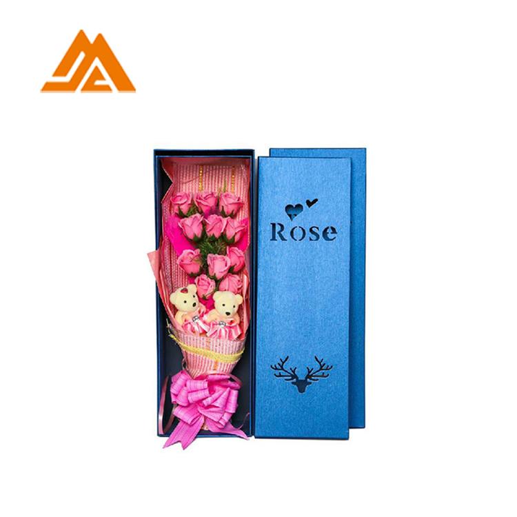 Personalizzato rosa quadrato di lusso scatola di cappello per i fiori, fiore del sapone scatola di imballaggio