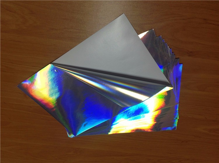 High quality Customized logo A4 Size waterproof Holographic pattern Sticker For inkjet Printing
