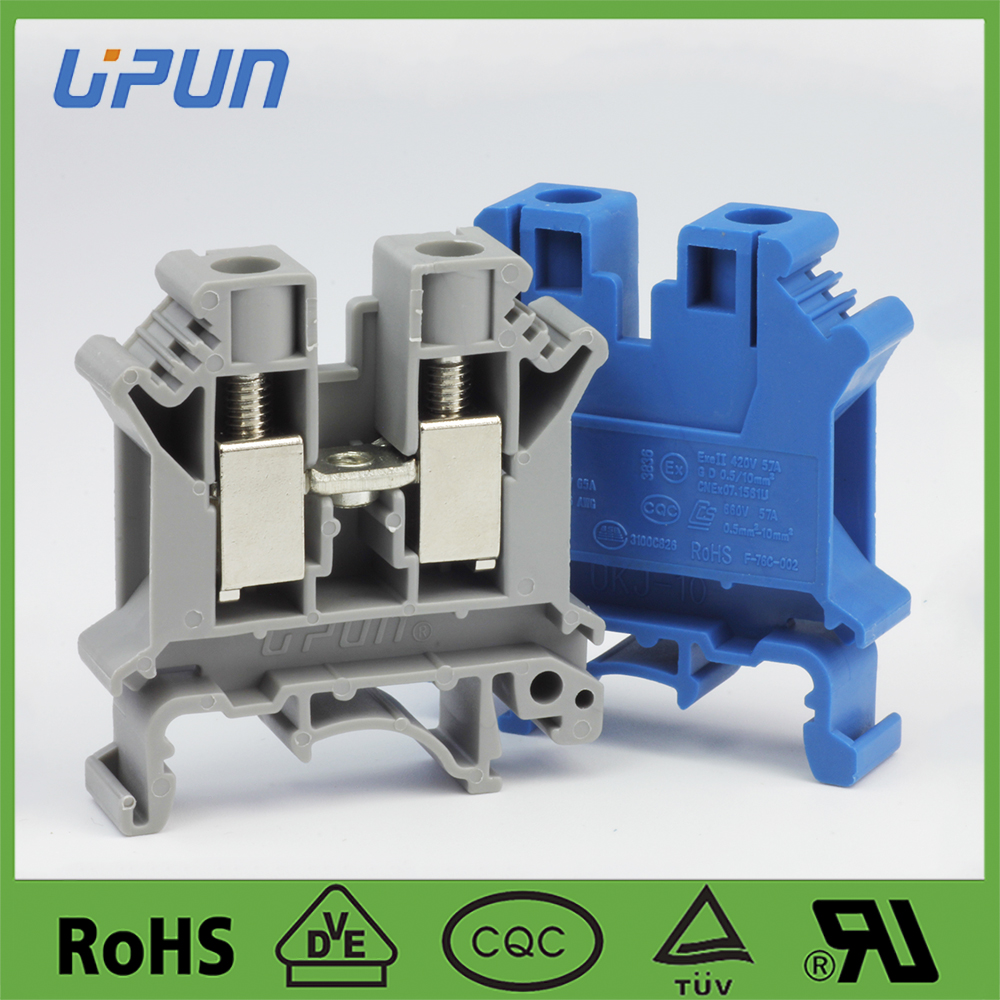 din rail screw 10mm2 terminal block