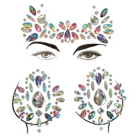 News Face Jewels Colorful Glitter Face Gems Sticker, Rhinestone,For Eyes Face Forehead Body On Music Rave Festivals