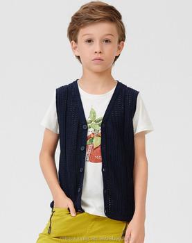 Nieuw Kinderen Dragen Nieuwe Model Gebreide Vest Jongens Mouwloos Trui OD-15