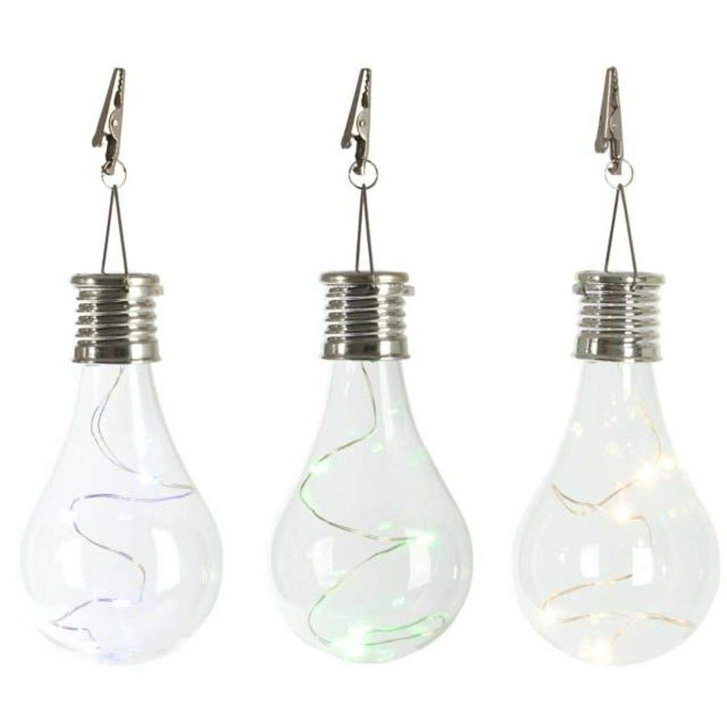 String Light, Leyorie Waterproof Solar Outdoor Garden Camping Hanging LED Light Lamp Copper Wire Bulb