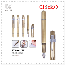 2018 promotional high quality heavy luxury custom logo metal fountain pen