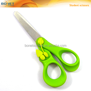 "SSC0048 5-1/4"" special design stationery spring plastic handle scissors"