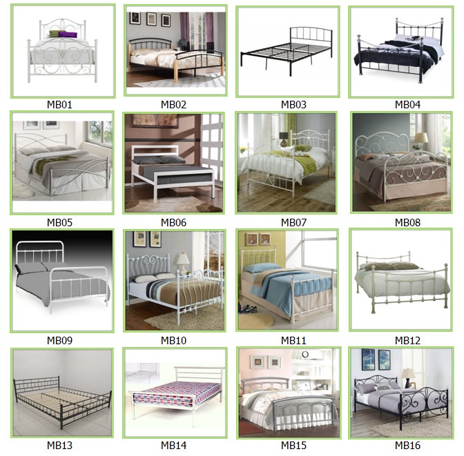 Furniture Manufacturers Wholesale Germany Style Metal Bed With Mail Order Packing Bed Room