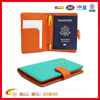Deluxe Rfid blocking passport case with 2 luggage tags, Rfid passport case with pen holder, Rfid passport holder Oem factory