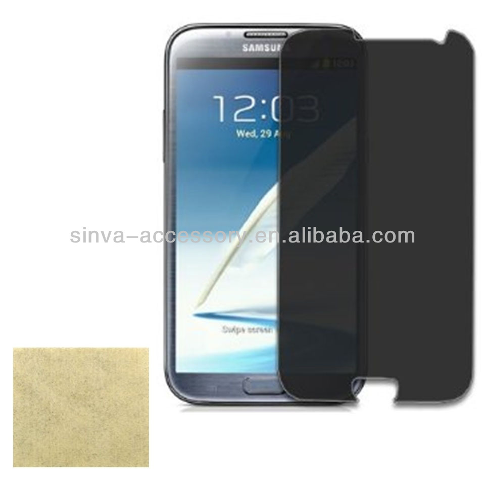 Korea LG privacy screen protectors for Samsung Note2 N7100