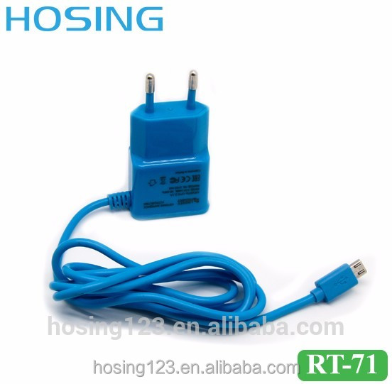 Colorful Micro Mobile Phone Charger for Samsung Nokia Home Charger