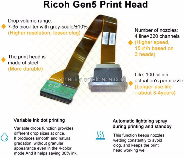 Industrial Ricoh Gen 5 Printer Head Flatbed Uv Printer For Glass - Buy 3d  Ceramic Floor Tile Printer,Glass Uv Printer,Texture Uv Printer Product on