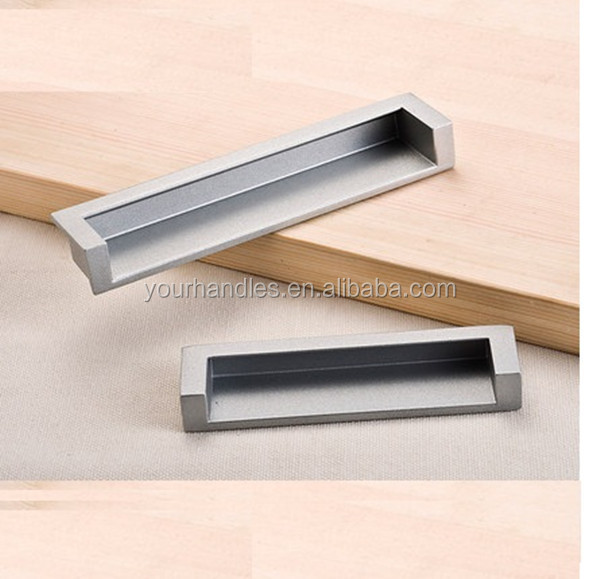Furniture Concealed Cabinet Pulls Recessed Flush Handles