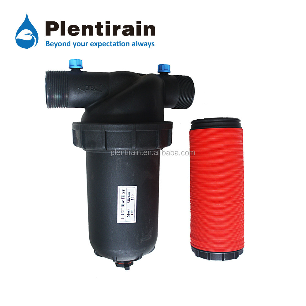 PP Material T & Y Type Saving Water Disc Filter Drip Irrigation Filters