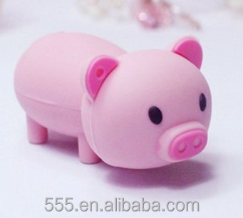 hot selling products pvc lovely pig shape 8gb USB flash disck for promotional gift