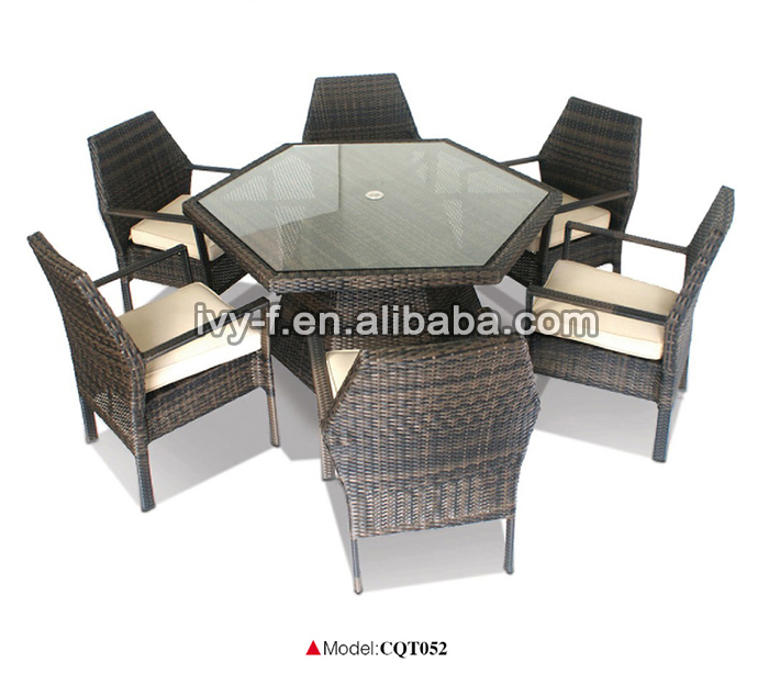 exclusive design outdoor synthetic wicker garden furniture home casual  outdoor furniture hexagon dining table. Exclusive Design Outdoor Synthetic Wicker Garden Furniture home
