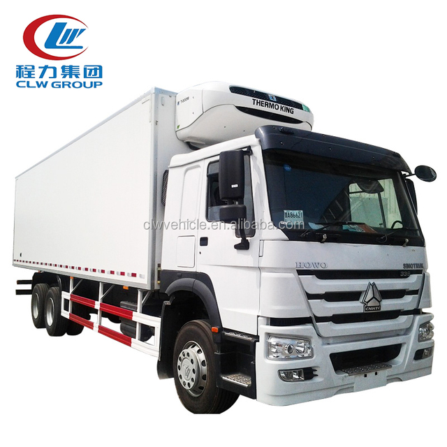 3-5ton freezer van truck refrigerated box truck dongfeng freezer van for sale