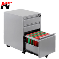 Colorful Office Equipment for A4 metal File Cabinet 3 Drawer Mobile Pedestal