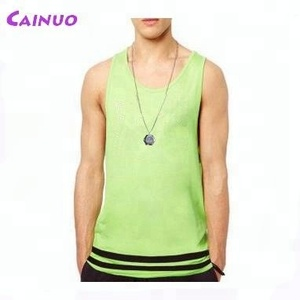 Custom colored tank top with stripe printed