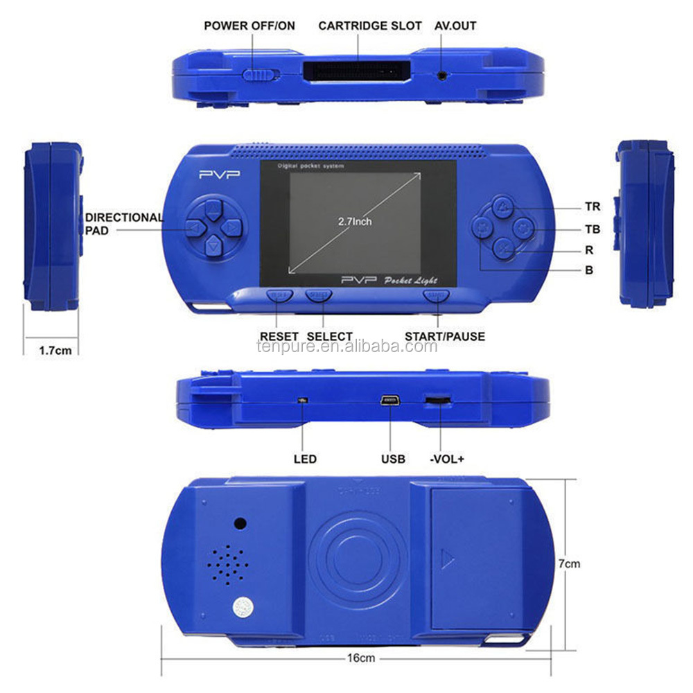 3 Inch 16 Bit PXP3 Handheld Game Player Retro Video Game Console de jeux Consola 150 Classic Games Child Gaming Players Consoles
