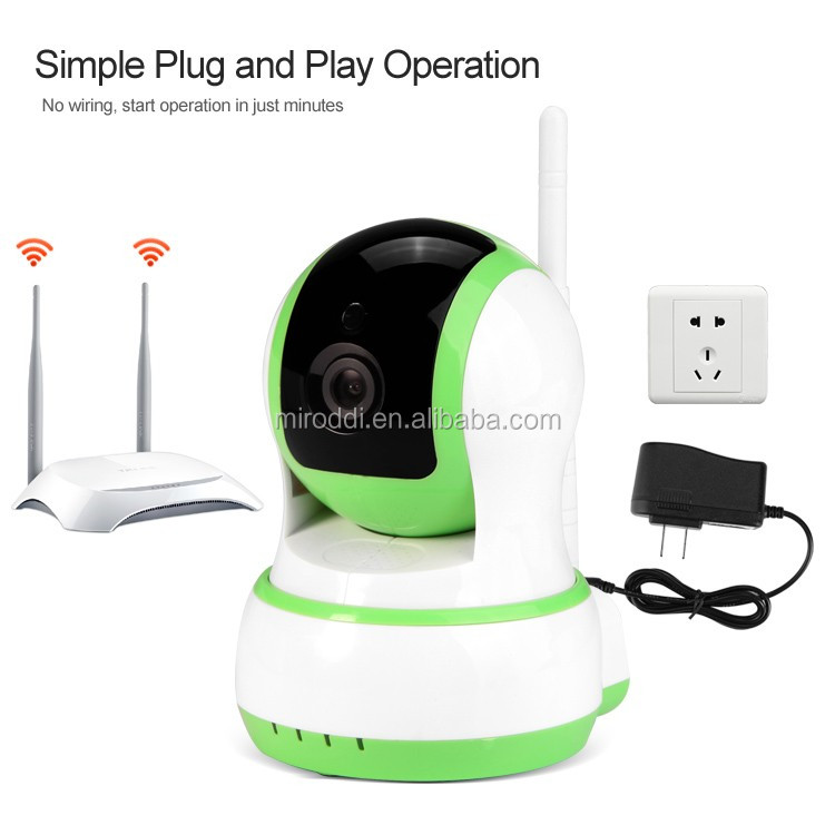 Plug and Play IP Cam Infrared Night Vsion Wireless Wifi HD P2P Email Alert Security IP Camera