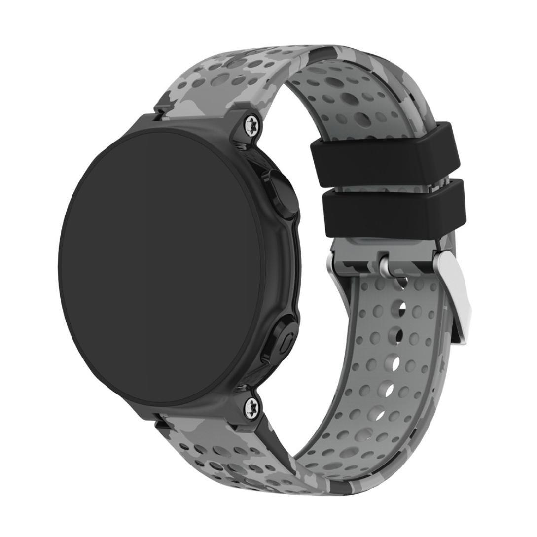 Wotryit Watch Strap Replacement Silicagel Soft Band Strap For Garmin Forerunner 235 GPS Watch