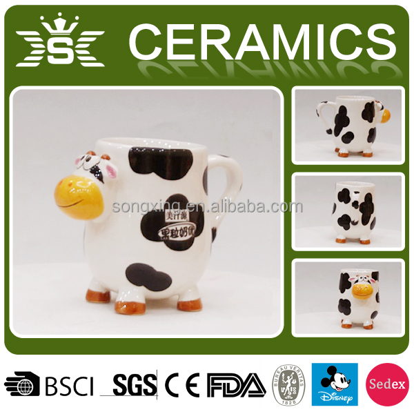 3D animal ceramic dairy cattle cow products mug