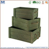 unfinished cheap wood fruit crates antique style with rope handle for sale