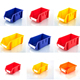 LARGE STACKABLE PLASTIC PARTS BINS Strong Storage Box bins