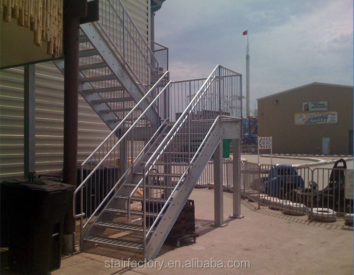 Outdoor Metal Staircase,Outdoor Stair Railing Design,Galvanized  Stairs,Outdoor Prefabricated Steel Stairsts 290   Buy Perforated Metal  Stair ...