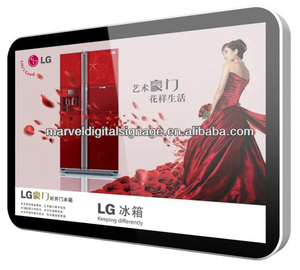 70 inch led advertise display panel/lcd advertising player board