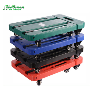 Plastic Portable Folding Platform Cart/ Flat Folding Wheel Dolly/ Collapsible Wheel Trolley