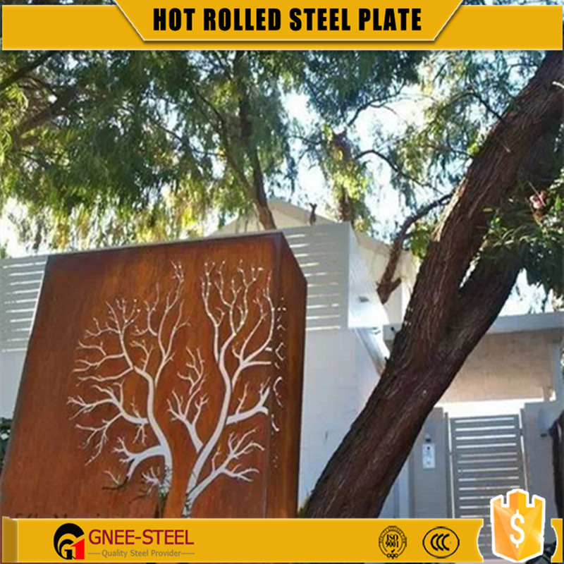 Free Sample Corten B A588 Steel Plate/Sheet Exporting with SGS Test Report wall panel