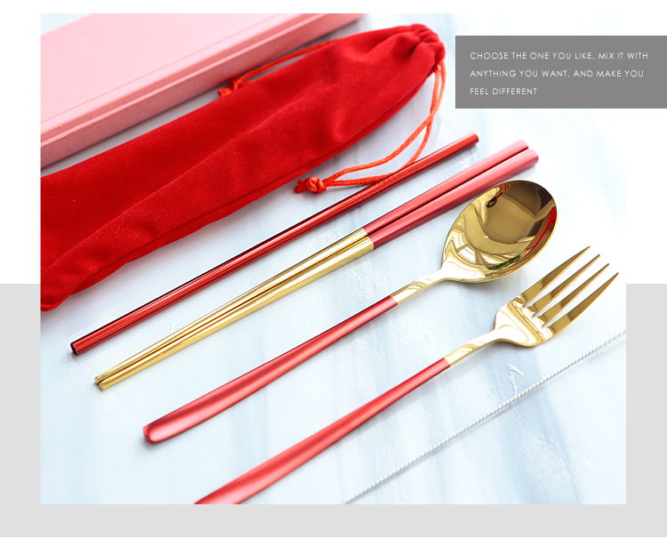 Stainless Steel Portable Travel Cutlery Set In Case And Pouch