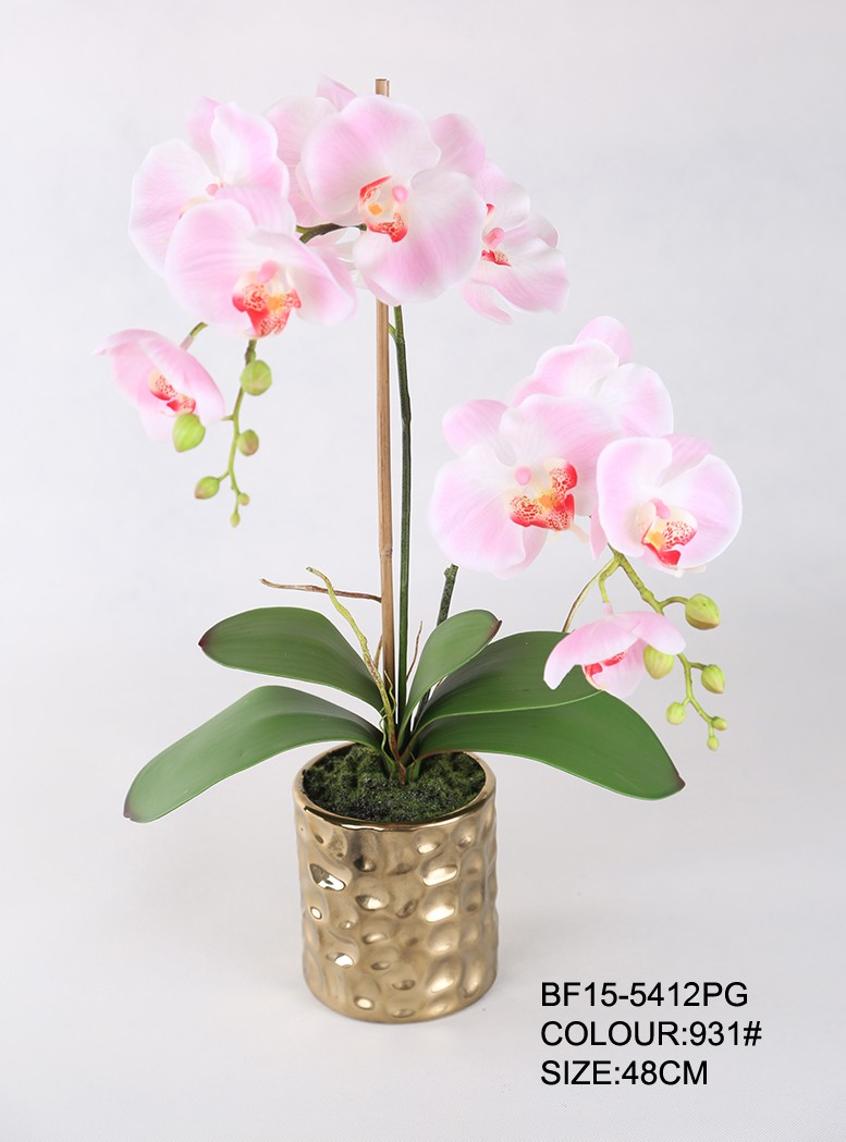 Artificial Silk Flower Arrangement & Orchid Flower in Real Touch
