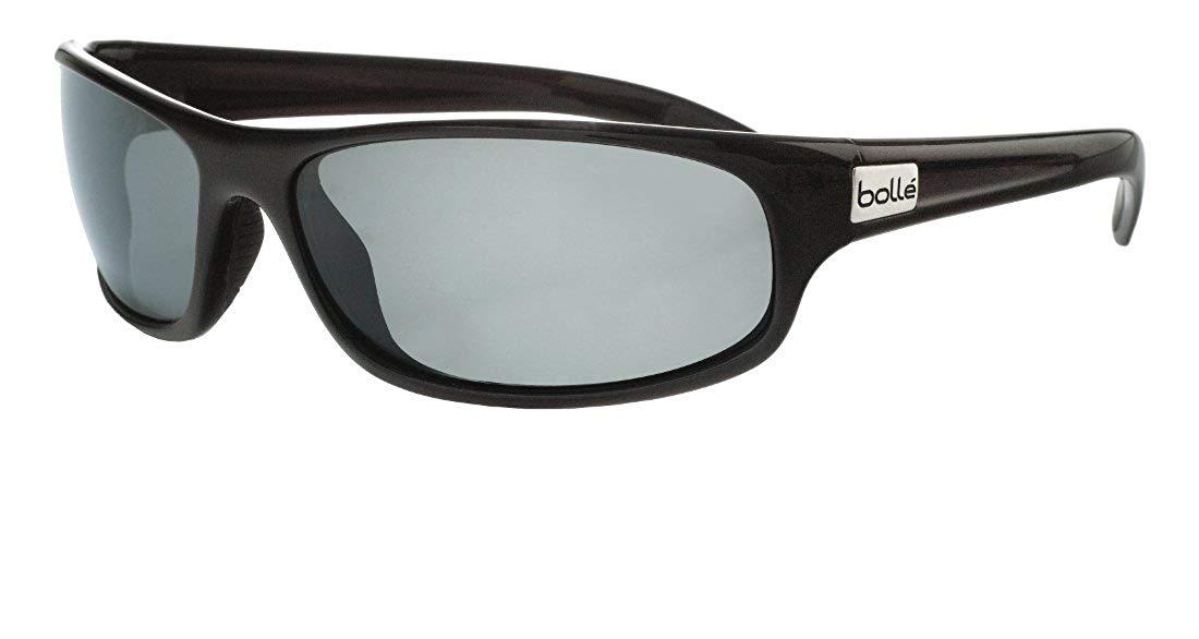 Bolle Anaconda Sunglasses, Shiny Black, Polarized TNS oleo AF