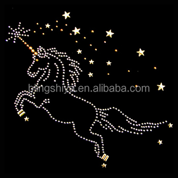 Hot Sale Unicorn Hotfix Rhinestone Transfer - Buy Unicorn Rhinestone  Transfers,Iron On Rhinestone Motif,Animal Rhinestone Transfers Product on