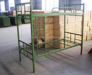 FAS-043 High loading capacity cheap green military metal dormitory bunk beds for Camping Equipment
