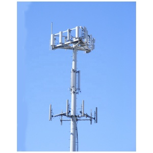 12M,30M,45M 4g cell phone tower with slip joint, monopole telecom tower with flangle
