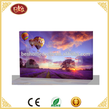 fire balloon painting canvas,pre printed canvas to paint,wall pictures light up