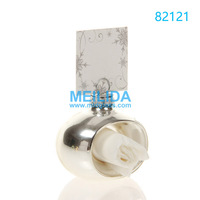 Silver paper napkin rings for weddings holder