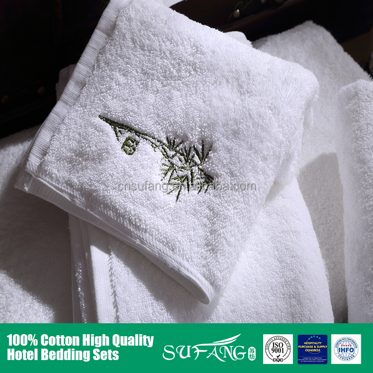 100% cotton hotel bathroom towel sets/3pcs/luxury high quality,quick-dry eco-friendly white cotton hotel