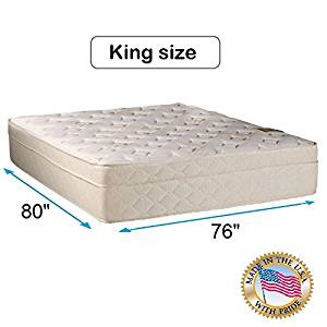 """Beverly Hills Firm Foam Encased Eurotop (Pillow Top) Mattress Only (King 76""""x80""""x13"""") Sleep System with Enhance Support- Fully Assembled, Knit Cover, Orthopedic by Dream Solutions USA"""