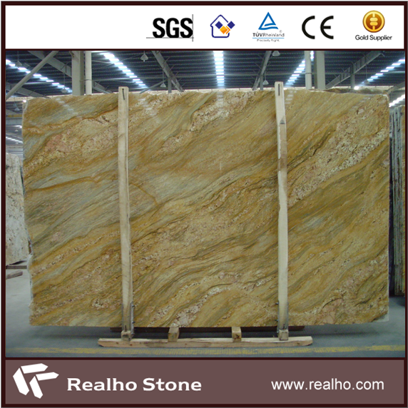 Polished India Imperial Gold Granite Slab