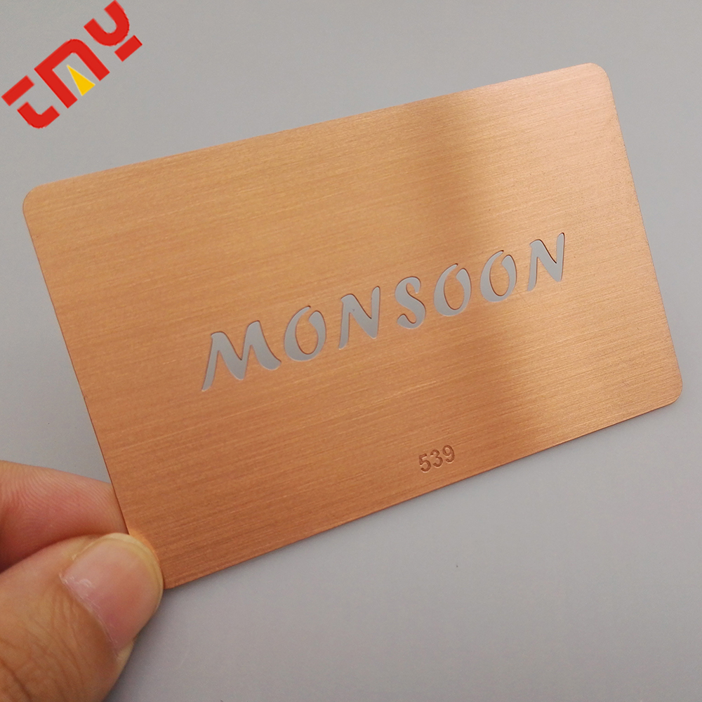 Hot Sale Rose Gold Plated Metal Membership Card With Magnetic Stripe