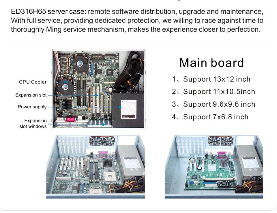 3u Rackmount Chassis Sas Backplane Hard Drive Server Case