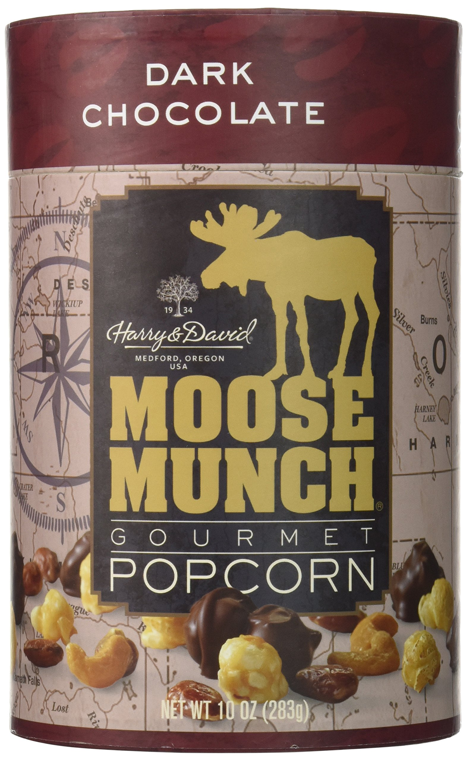 Harry & David, Moose Munch Gourmet Popcorn, Dark Chocolate, 10 Oz.