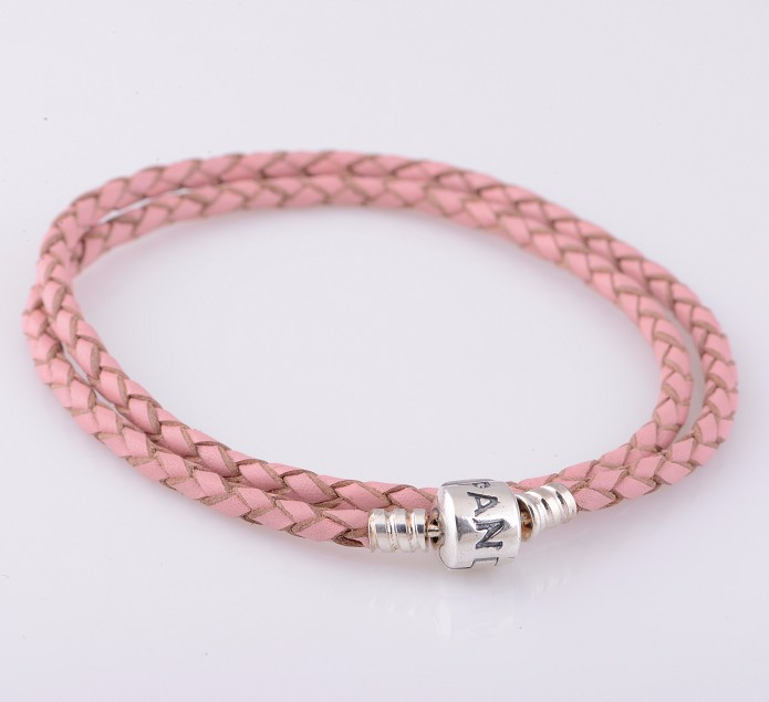 a51fc1828 shop pandoramoments double leather bracelet pink dc927 6608e; where to buy pandora  pink braided bracelet 5c9a4 a6826