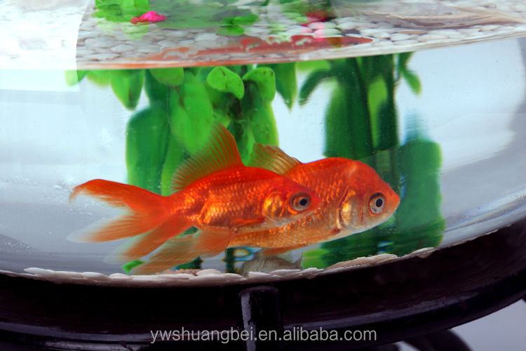 2015 New Design Round Clear Glass Open Mouth Fish Bowl Aquarium ...