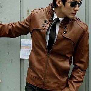 men's fitted designer leather jackets [carmel] ER.LK003, View ...