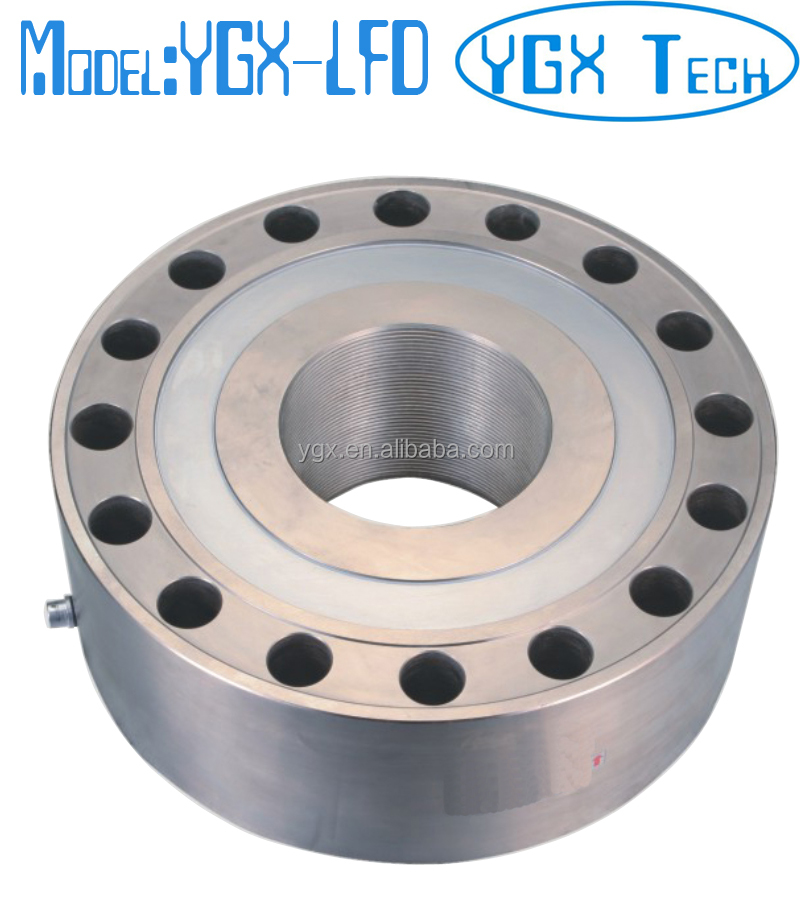 1 ton 2 ton 5 ton 10 ton 20 ton 30 ton 50 ton 60 ton 100 ton 200 ton donut compression load cell