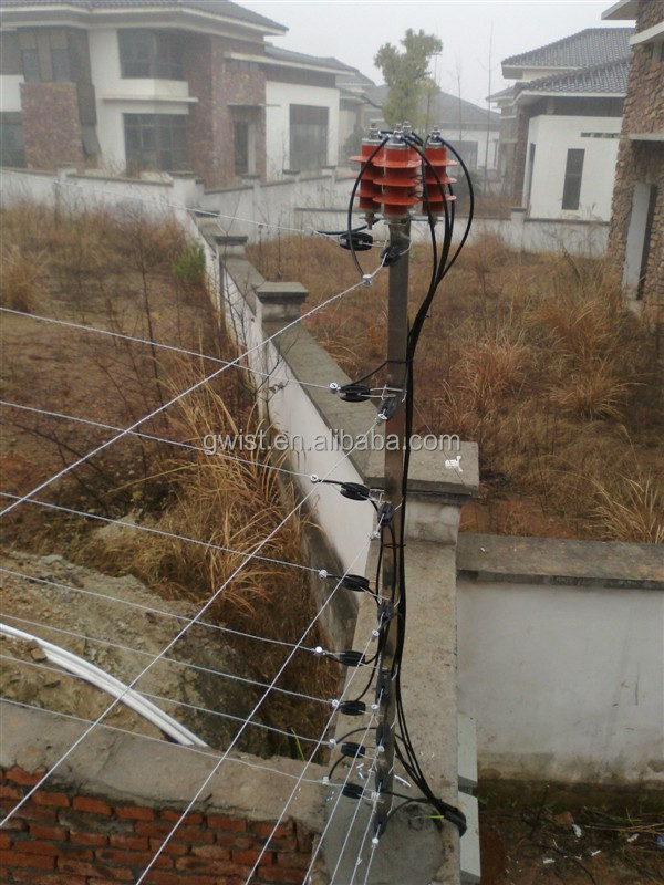 wall top security electric fence energizer residential property, wiring, security electrical wiring
